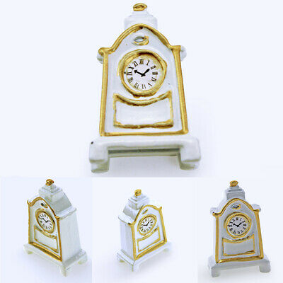 Retro Wooden Pendulum Clock Figurine Miniature Diy Doll House Decor Super