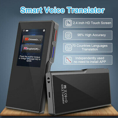 WIFI Hotspot Smart Touch Voice Translator 70 Multi Languages for Travel / Learn