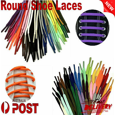 Shoelaces Colorful Coloured Round Bootlace Sneaker Shoe Laces Sports Casual Lace