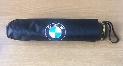 Black BMW Compact Brolly (not Umbrella!) Fits Glove Box: Christmas Gift