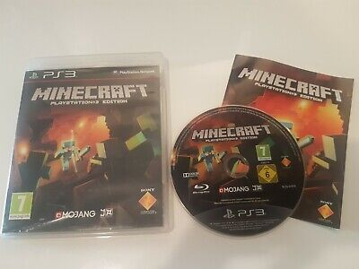 Minecraft PlayStation 3 Edition *DISC NEAR MINT (PS3 PAL) game, manual *FREE P&P
