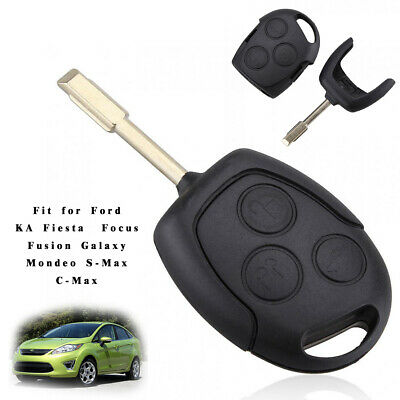 Fit for Ford Mondeo Fiesta Focus 3 Button Car Remote Key Fob 433MHZ Replace Chip
