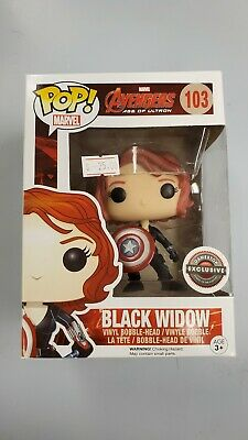 Funko Pop Marvel 103 Black Widow With Shield Gamestop Exclusive Age Of Ultron