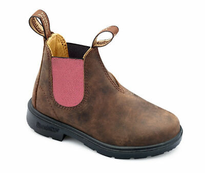 Blundstone Urban 1438 Kids Rustic Brown and Pink Leather Boots