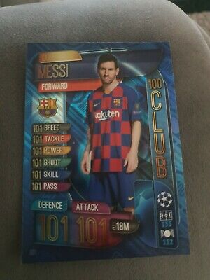 Topps Match Attax UEFA Champions League 2019/20 UK Edition 101 Card Lionel Messi
