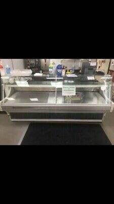 Serve Over Counter Meat Deli Fish Display Curved Glass