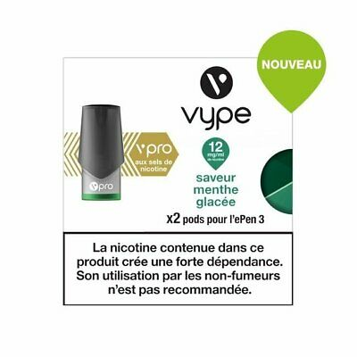 Capsules Vype ePen 3 vPro Saveur Menthe glacée 12 mg