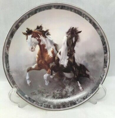 """Bradford Exchange Horse Plate Galloping Glory First Issue Thundering Hooves  8"""""""