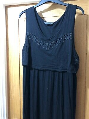 Black Maxi Dress Mothercare Blooming Marvellous Breast Feeding Dress Size 18