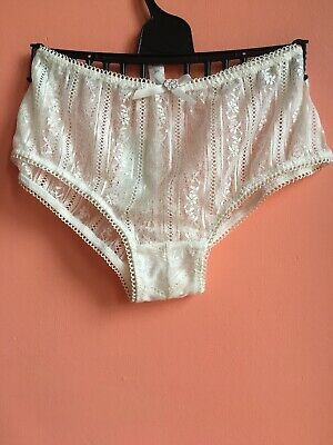 Quality Sielei Lingerie Lace Vintage Style Ivory Knickers Size  34