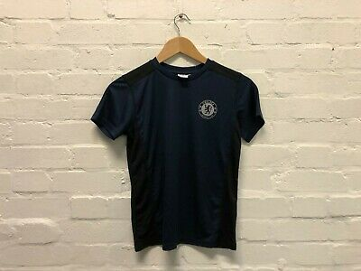Chelsea FC Official Kid's Club Poly T-Shirt - 10-11 Years - Navy - New
