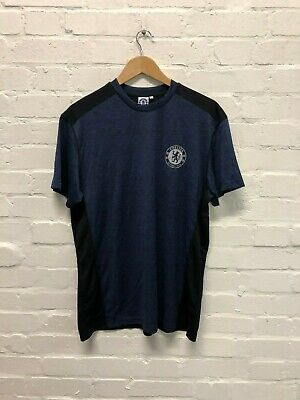 Chelsea FC Official Men's Club Poly Core T-Shirt - Large - Navy - New