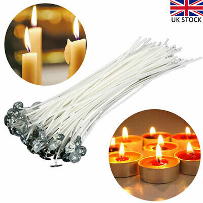 100pcs 20cm Pre-waxed Wicks for Candle Making With Sustainers Candle Accessories