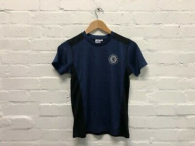 Chelsea FC Official Kid's Club Poly Core T-Shirt - 10-11 Years - Navy - New