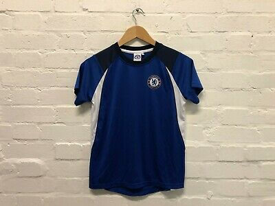 Chelsea FC Official Kid's Club Poly T-Shirt - 10-11 Years - Blue - New