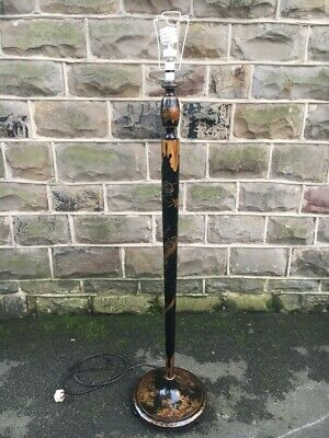 Antique Lacquered Chinoiserie Standard Lamp