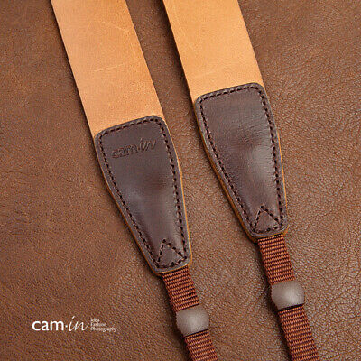 Smooth Tan Leather DSLR Camera Strap by Cam-in - B-GRADE