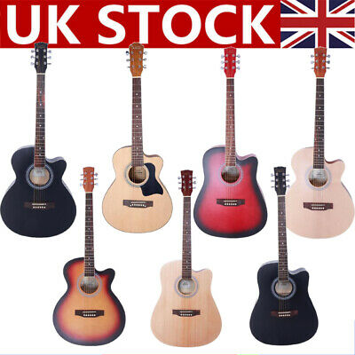 "New 38"" 40"" 41"" 15 Frets Beginners Practice Acoustic 6 String Children Guitar"