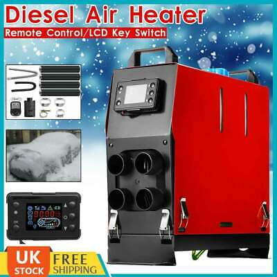 All IN One 5KW 12V Diesel Air Heater Thermostat For Caravan Motorhome Trailer UK
