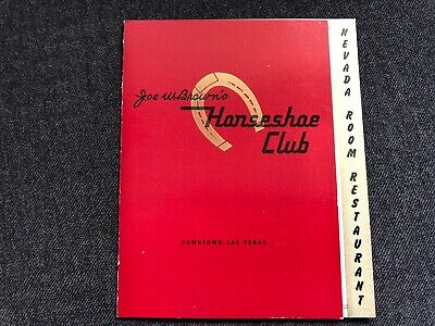 Vintage HORSESHOE CLUB Downtown Las Vegas Nevada Room Restaurant Miniature Menu