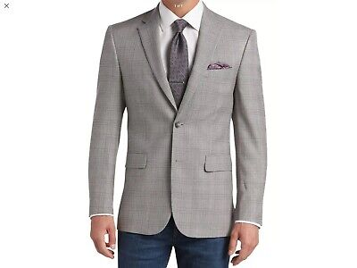 NWT JoS. A BANK Men's Traveler's Traditional Fit Plaid Sportcoat 41R Retail $598