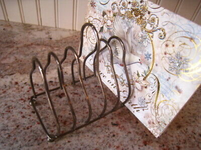 Vintage Silverplate Toast Caddy - Letter Holder - Holds 6Pcs