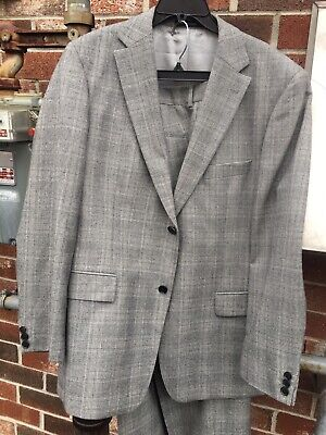 HUGO BOSS Pasolini movie men's 2-piece wool suit 44R double vent 2-button cuffed