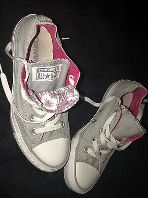 AWESOME RARE GREY double tongue ALL STAR CONVERSE SIZE UK 4