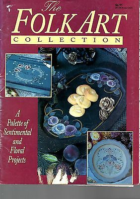 2 Folk Art magazines – floral projects & patterns galore