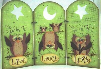 "Laurie Speltz tole painting pattern ""Owl Arched Fence"""