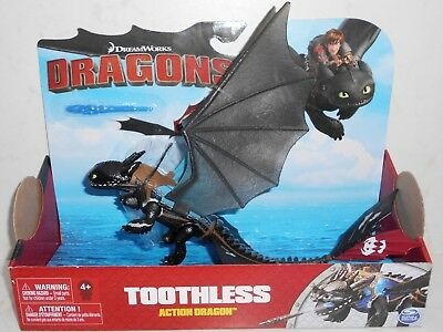 Brand New 2017 Spin Master DreamWorks Dragons: TOOTHLESS Action Dragon HTTYD 4+