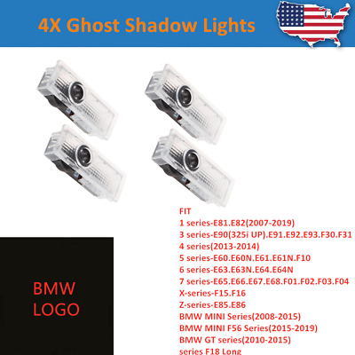 4X Wireless LED Car Door Courtesy Laser Ghost Shadow Lights Projector For BMW