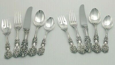 2 Reed & Barton Francis I Sterling Silver 5 pc Place Settings Old Mark Pat. 1907