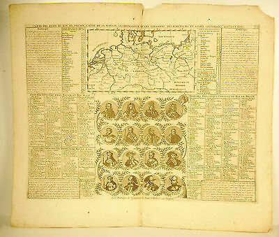 Henri Chatelain 1720 Card of States of Prussian Germany Germany Map Sovereigns