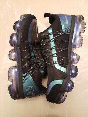 Nike Air Vapormax Run Reflective New Black/Blue/Green Reflective Men's Size 9.5