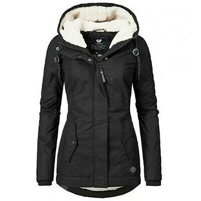 Parka Donna Invernale Lungo Trench Giacca Cappotto Inverno Giubbotto Zip Hoodie
