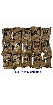 MRE US MILITARY Case A/B 4 Random Draw - MEALS READY TO EAT.    Free Shipping