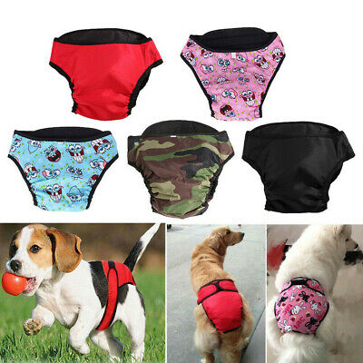 Dog Puppy Pet Diaper Pants Physiological Sanitary Short Panty Reusable Underwear