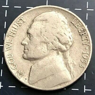 1953 United States Of America U.s.a - Us Five Cents 5 Cent Coin - Monticello