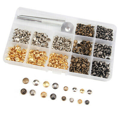 180 Sewing Ching Rivet leather craft Duty Snap Fasteners Kit