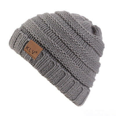 Children Winter Warm Hat Cap Baggy Beanie Cap Kids Thermal Bonnet Knitted Hat
