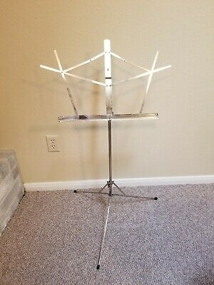 Belmonte Portable Adjustable Music Stand with Carrying Case - Silver