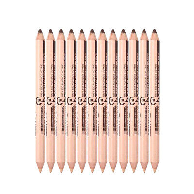 Menow 10Pcs/Lot Double-Ended Waterproof Long Lasting Eyebrow Pencil Cosmeti A6H8