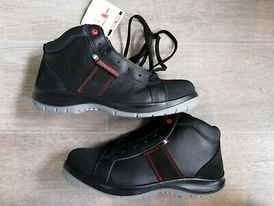 Mens Safety Shoes Trainers Boots Aboutblu Black Leather UK 10 EU 44 NEW UNWORN