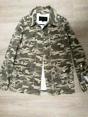 Ladies Girls River Island camouflage camo military jacket UK size 6 Pristine