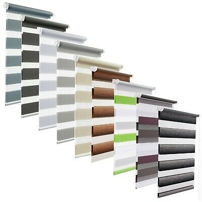 Made To Measure Day Night New Zebra/Vision Window Roller Blinds, 11 colours TAPE