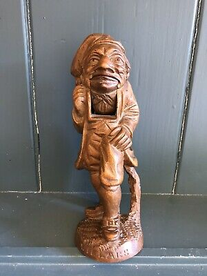 Antique Black Forest Carved Treen Nutcracker, Full Bodied Gnome