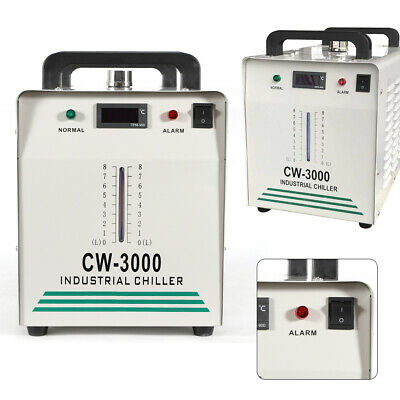 CW3000 9L Tank Water Chiller Industrial Thermolysis for 60W/80W Laser Tube New