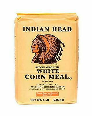 Indian Head White Corn Meal 2.27kg  x 3 with FREE Shipping