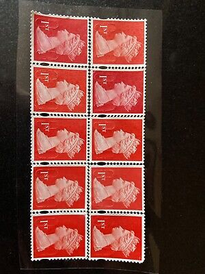 100 1st class RED Security Unfranked Stamps Original Gum EXCELLENT CONDITION